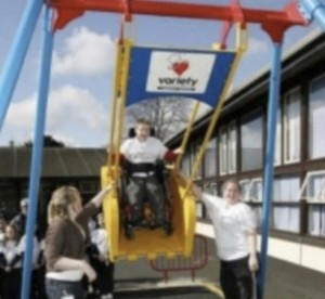 Wheelchair-bound children in Ireland can now use and enjoy the experience of being on a swing.